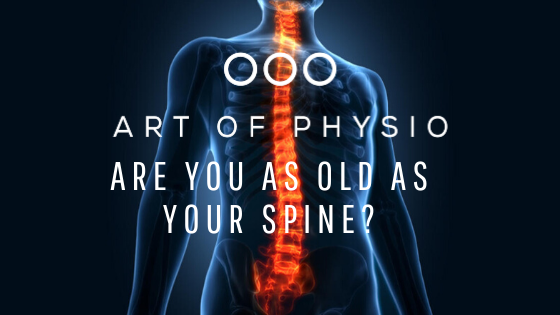 Are you as old as your spine?